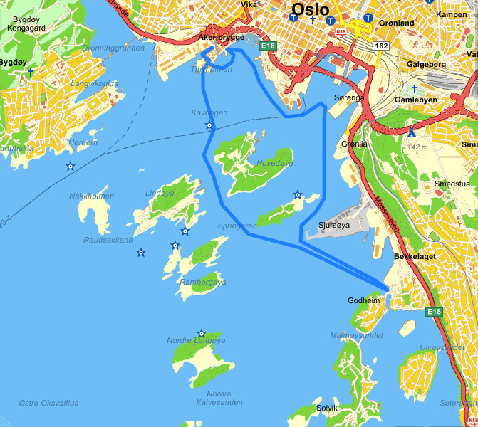 SUP route Oslo