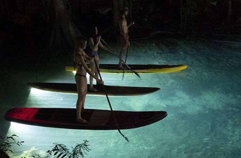 paddle boarding at night 1
