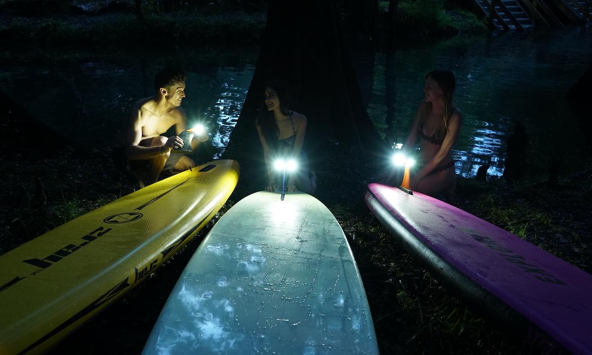 paddle boarding at night 2