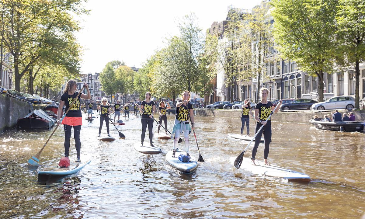 paddleboarding amsterdam summer 2
