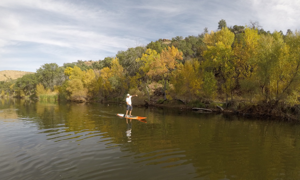 paddle boarding baja arizona pena blanca foliage