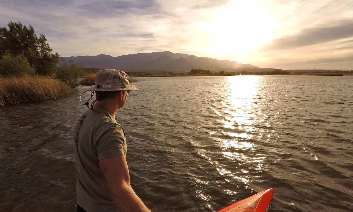 paddle boarding baja arizona roper lake Pinaleno Mountains