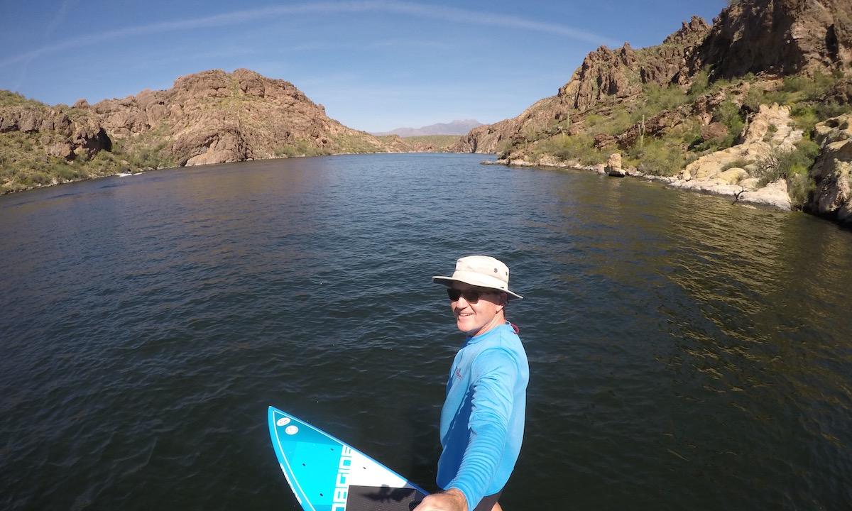 paddle boarding baja arizona saguaro lake
