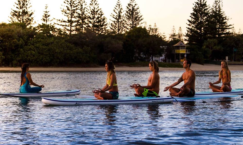 gold coast sup pure aloha yoga