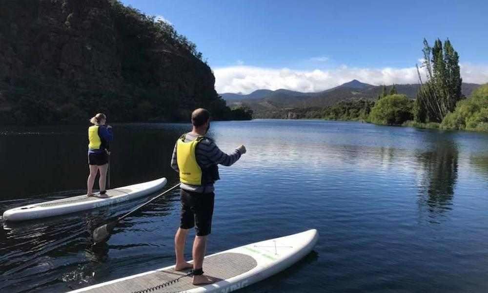 paddle boarding derwent valley tasmania
