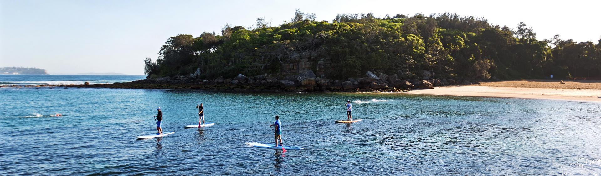paddle boarding fairy bower australia