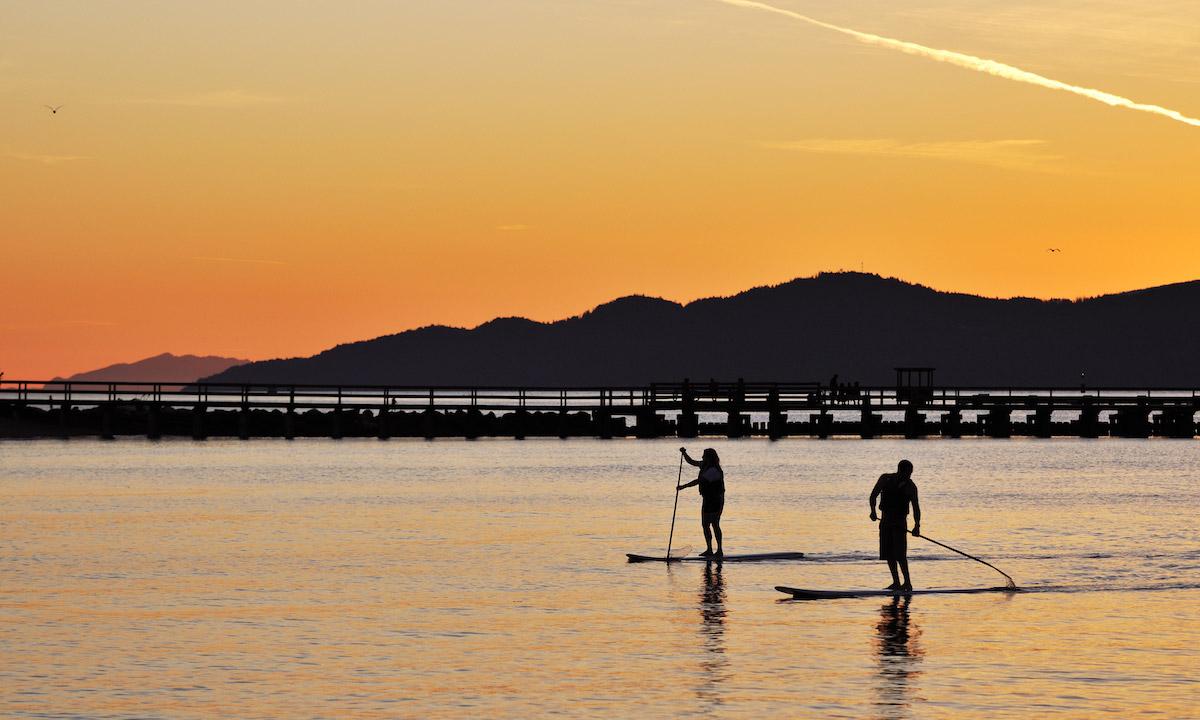 paddle boarding bc canda english bay vancouver