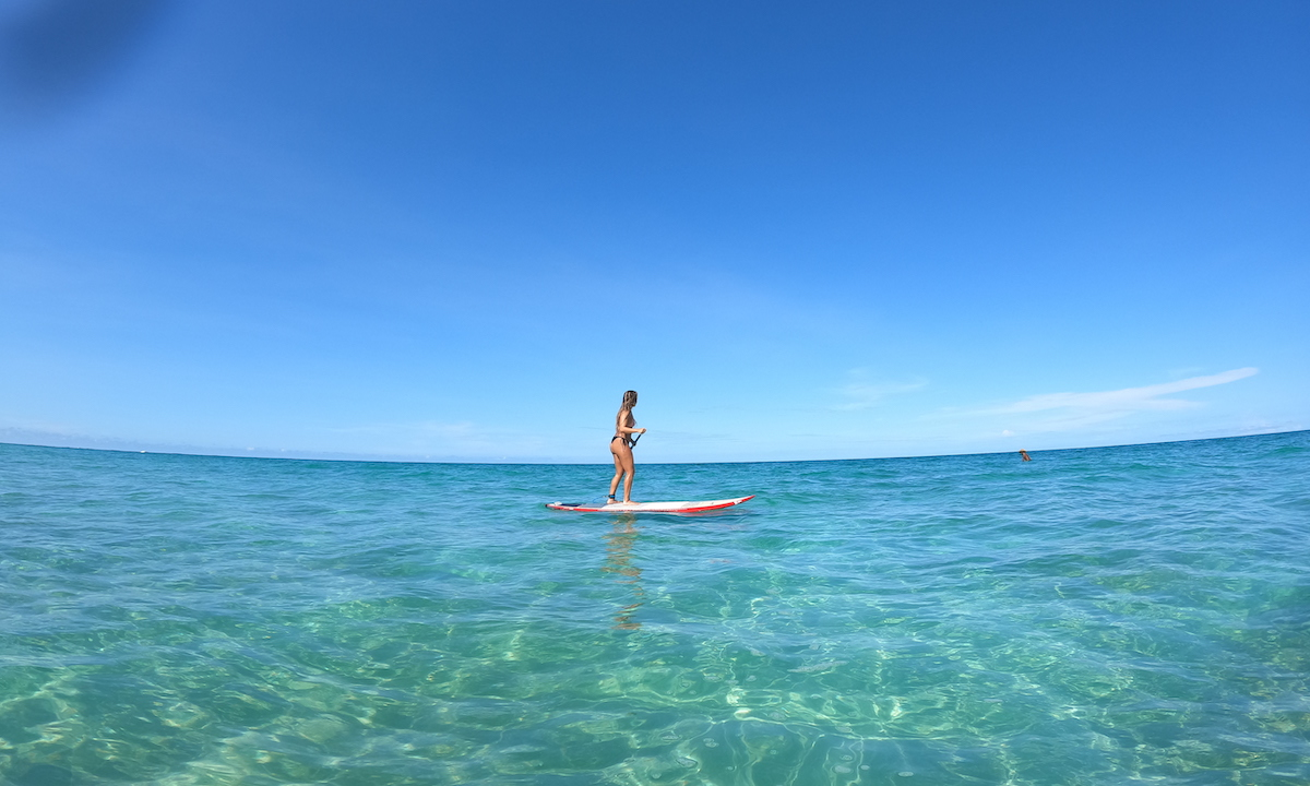 paddle boarding costa rica caribbean