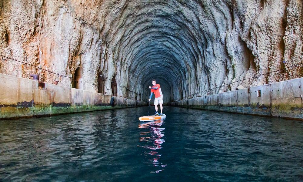paddle boarding croatia molat submarine cave