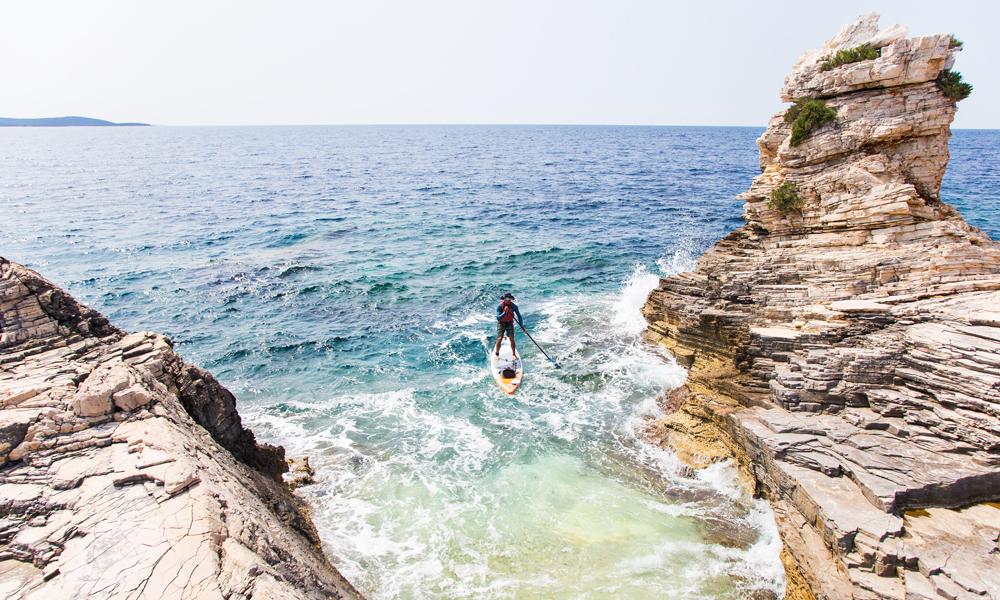 paddle boarding croatia molat tramerka