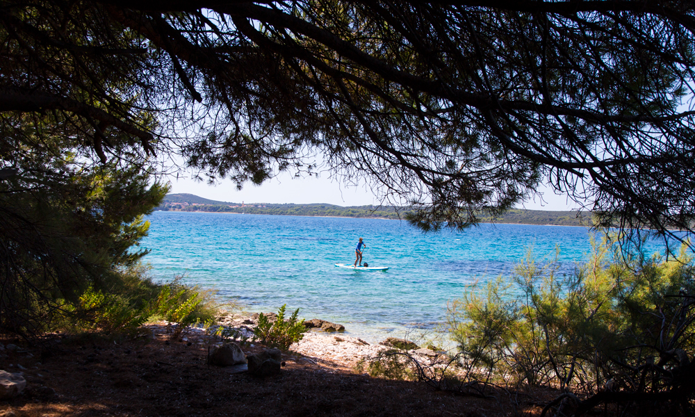 paddle boarding croatia southern coast of molat