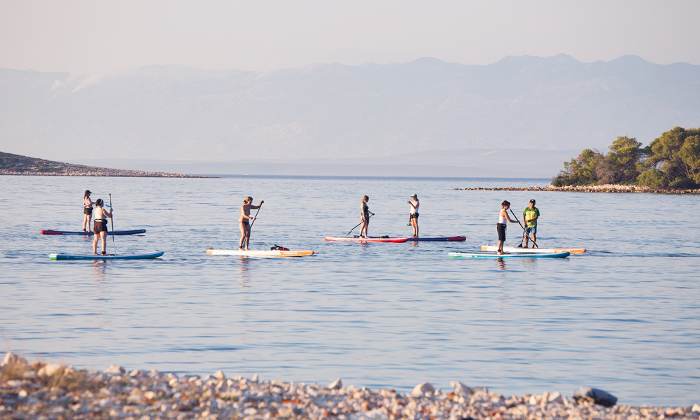 paddle boarding croatia southern coast of molat 2
