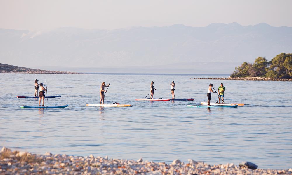paddle boarding croatia southern coast of molat 2