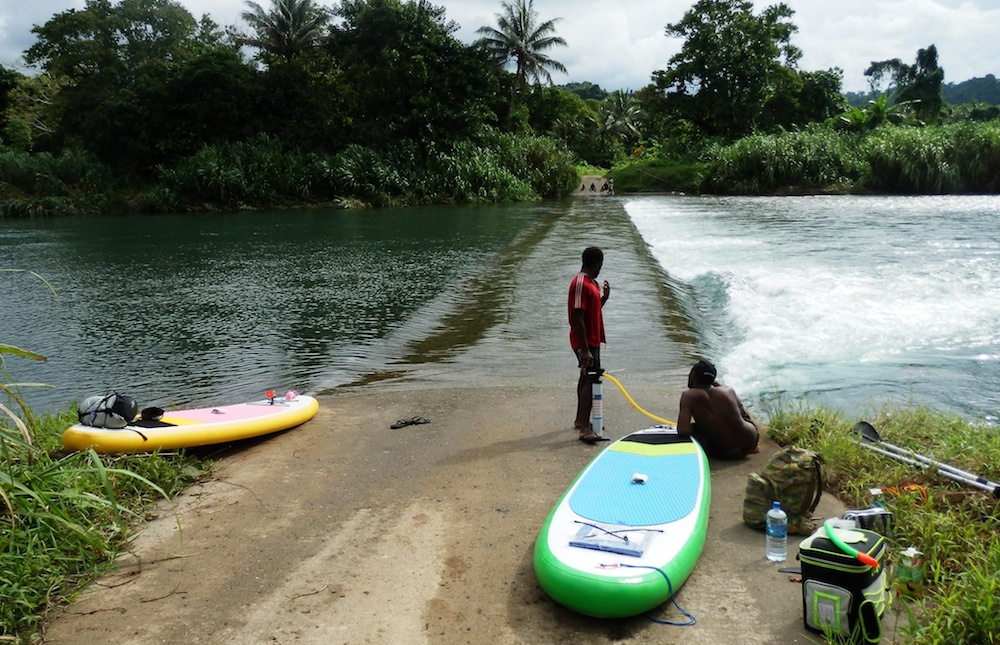 drop in pointp for the jordan river espiritu santo vanuatu
