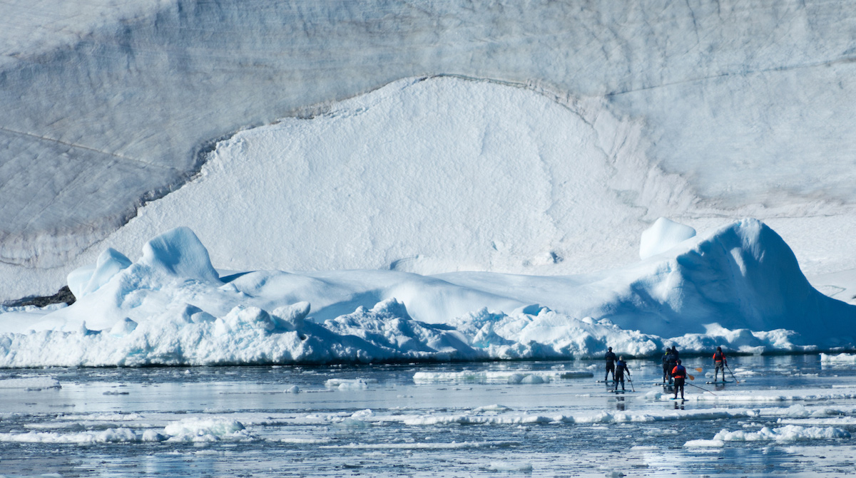 exotic sup destination antarctica