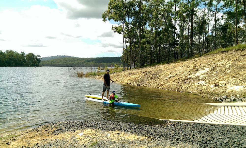 paddle boarding gold coast hinze dam west ramp