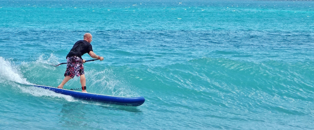 paddle boarding grenada BIC inflatable fi plavenieks