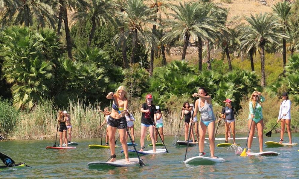 paddle boarding israel