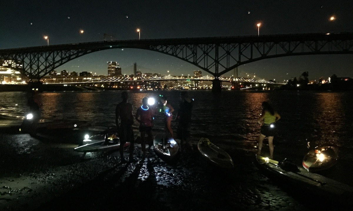ross island night paddle photo brett