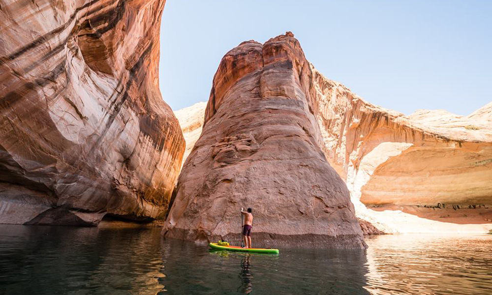 places to paddle board travel 2018 lake powell sup UPLake 1