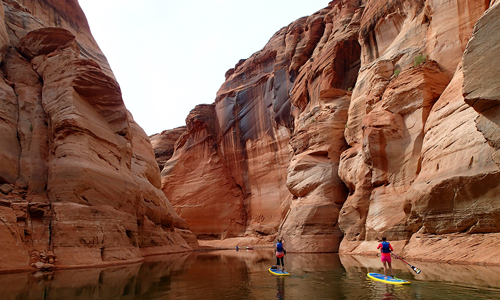 places to paddle board travel 2018 lake powell sup antelope canyon1