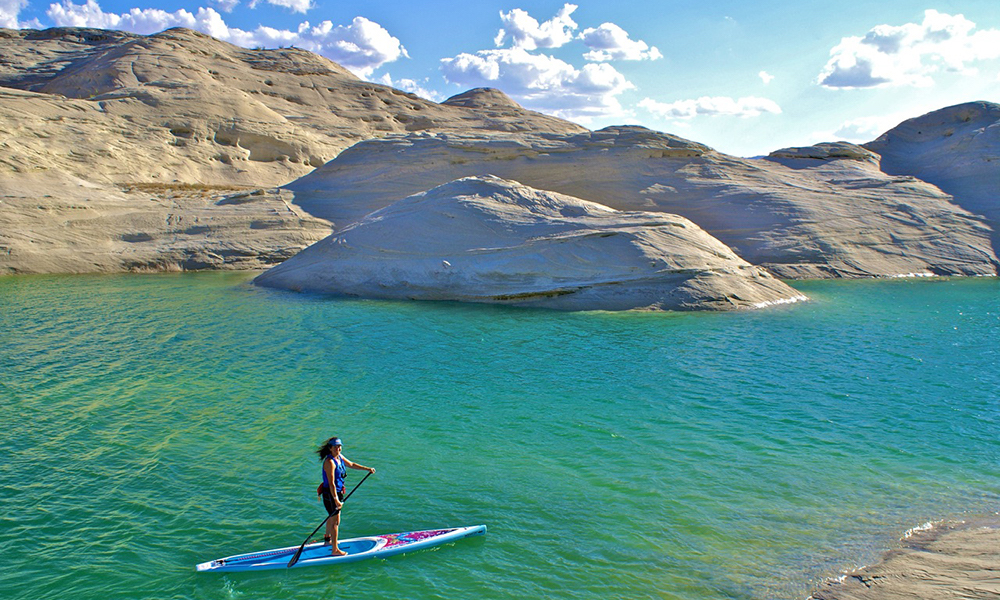 places to paddle board travel 2018 lake powell sup lone rock canyon