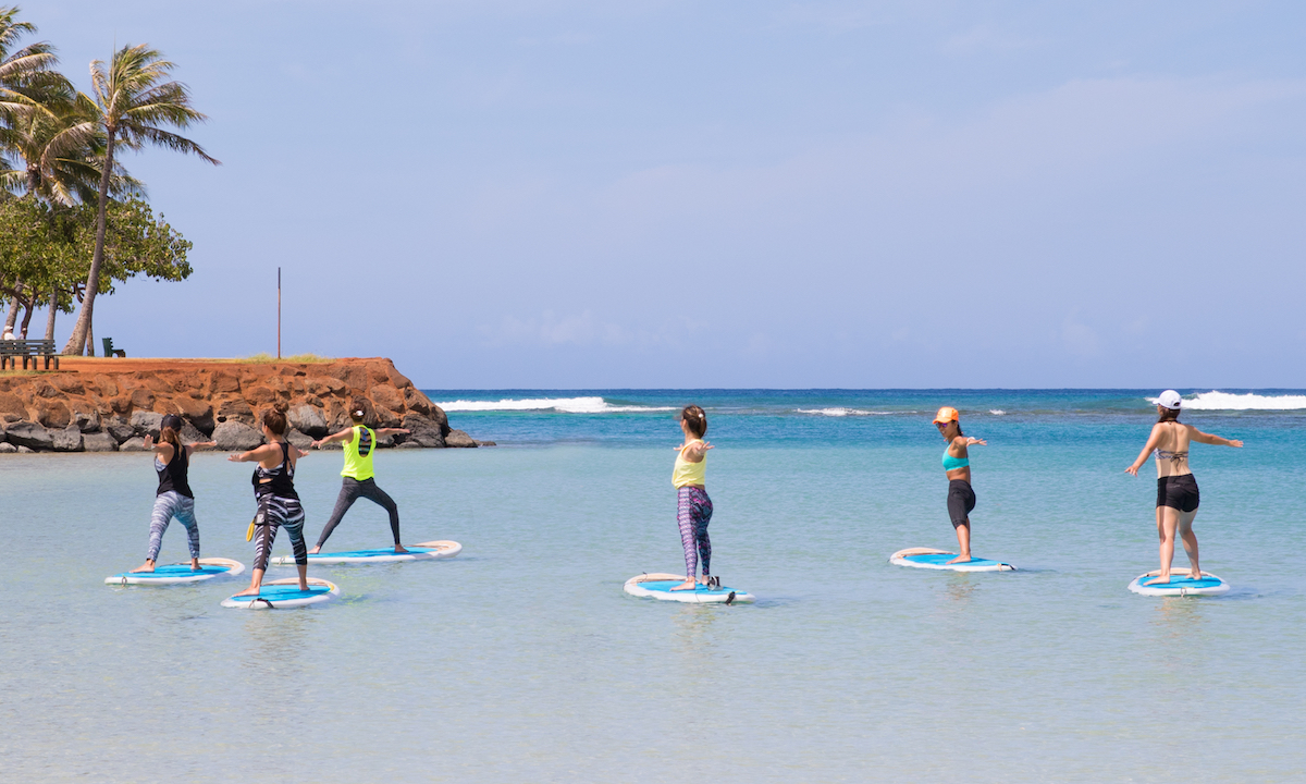 places to paddle board travel 2018 oahu yoga