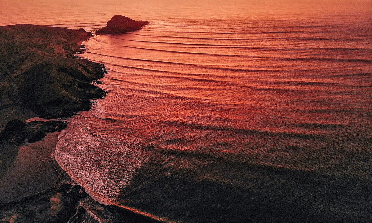 chicama peru sunset