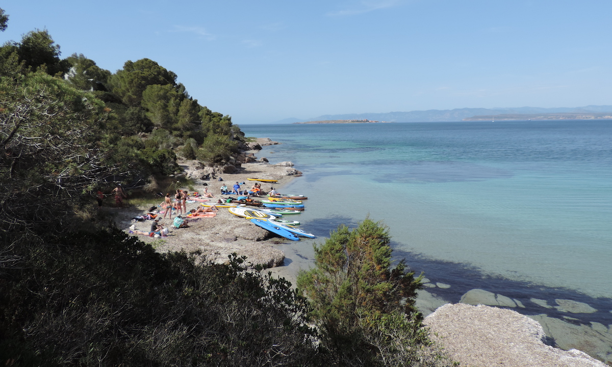 paddle boarding san pietro island italy 10