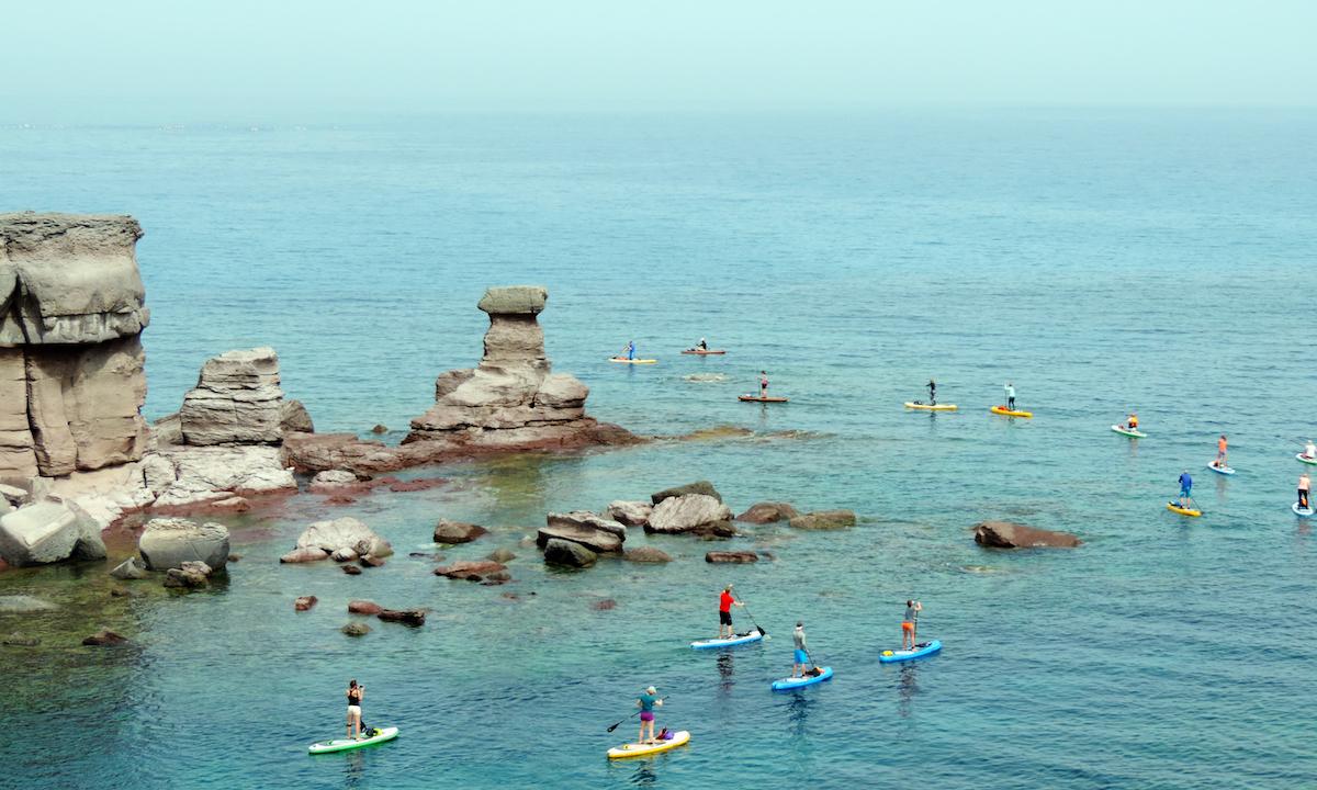 paddle boarding san pietro island italy 5