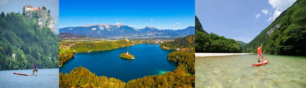 slovenia paddle boarding destination bled bohinj