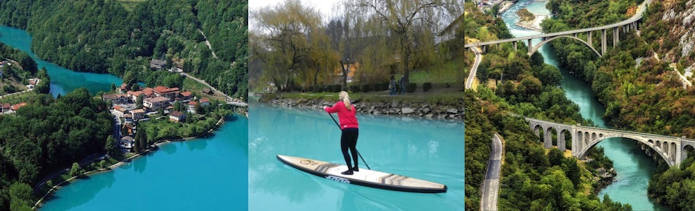 slovenia paddle boarding destination soca river