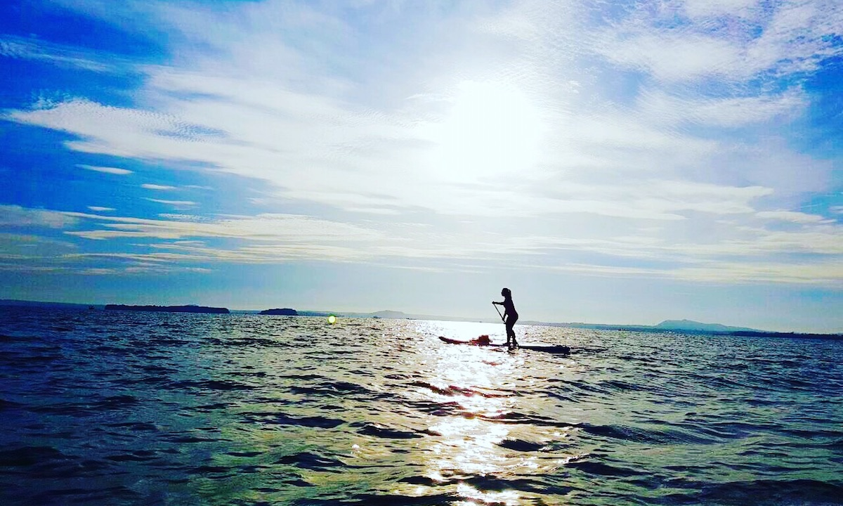 paddle boarding vietnam tri an lake 3