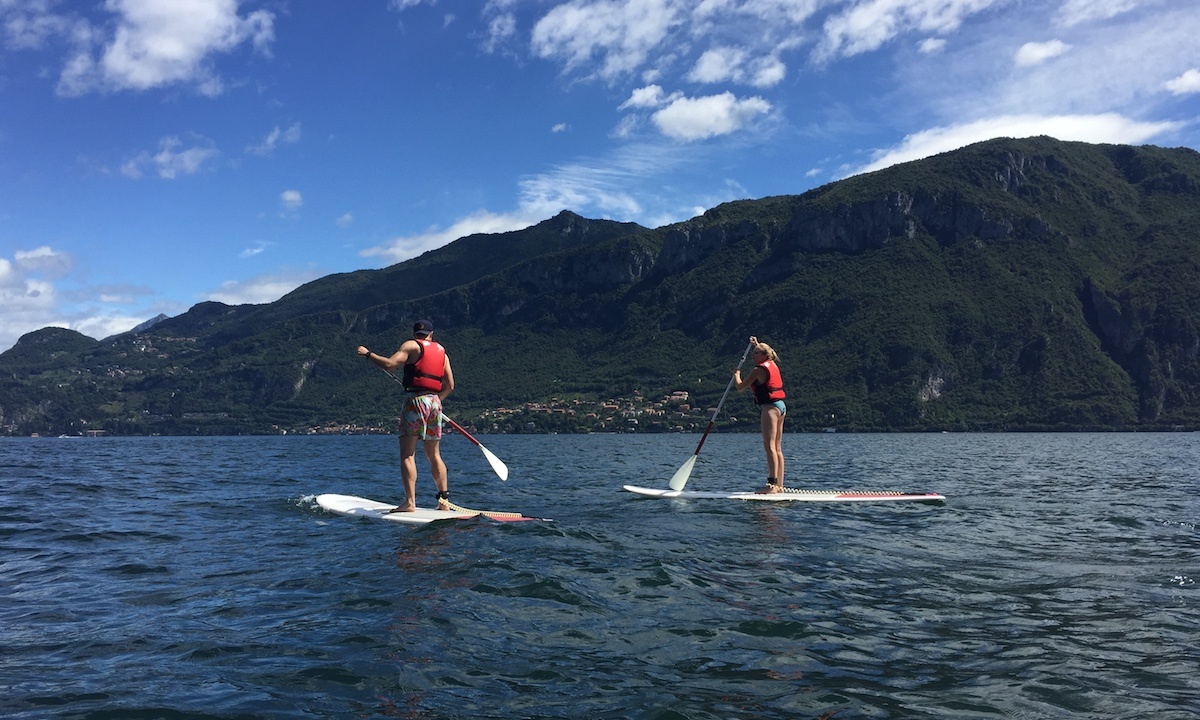 paddle boarding lake como 3