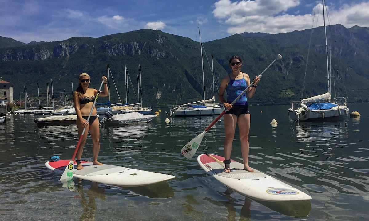 paddle boarding lake como 9