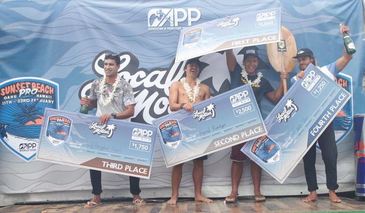 sunset beach pro 2019 finals podium