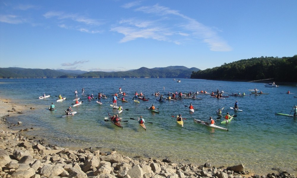 Lake Jocassee Paddle Splash