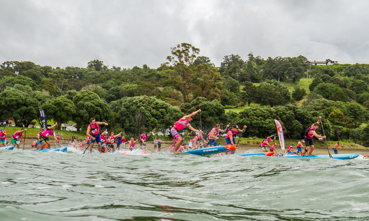 nz sup nationals 2017 18k race start