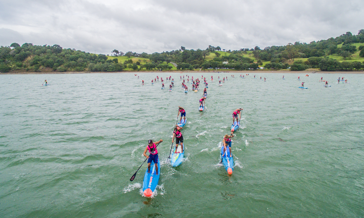 nz sup nationals 2017 race start aerial