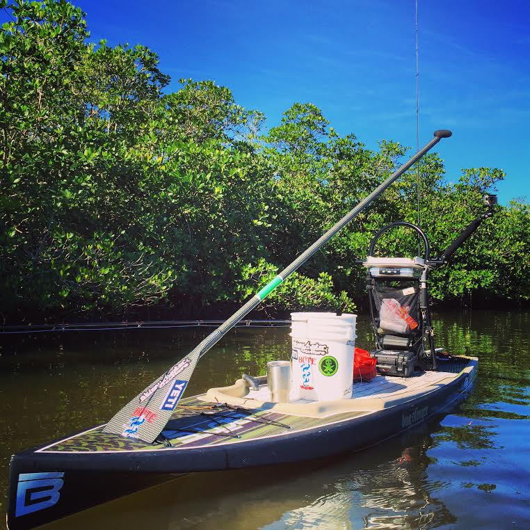 fishing from dock to sup