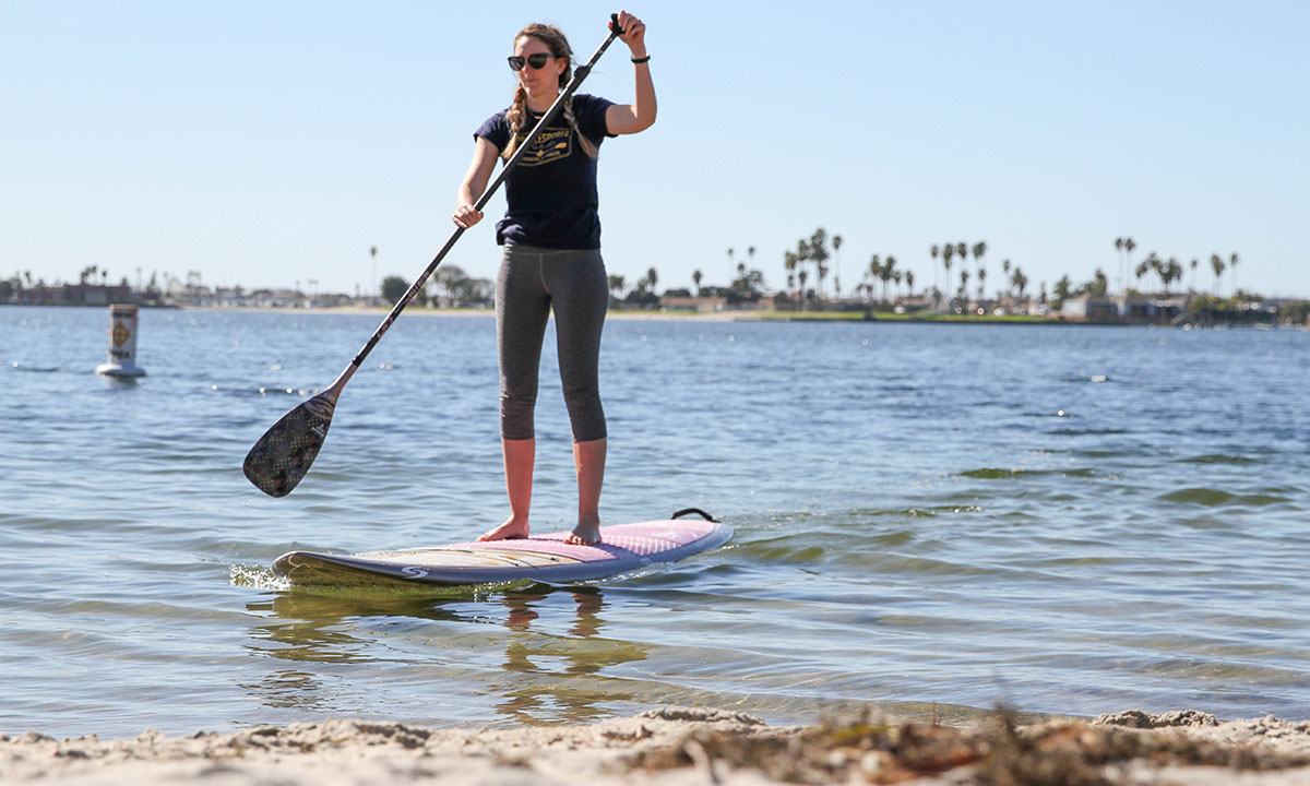 best non inflatable standup paddle board 2019 surftech aleka 4