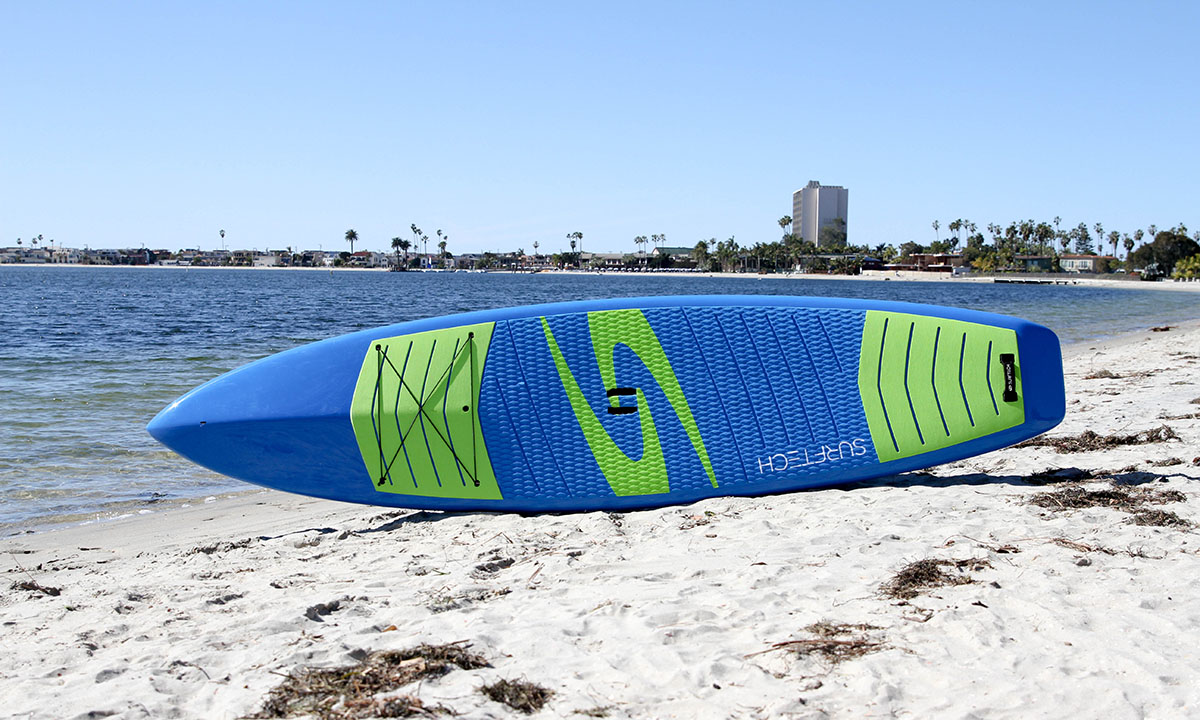 best non inflatable standup paddle board 2019 surftech promenade 1