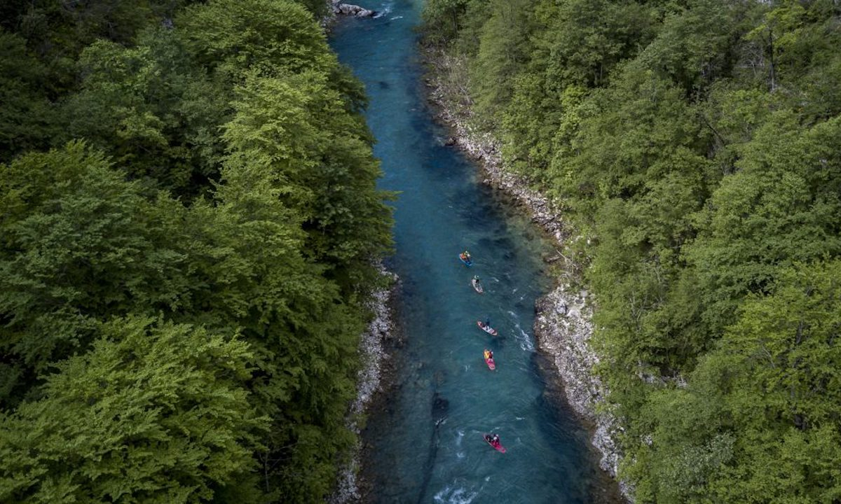 First SUP Descent Of Europe's Deepest Canyon overhead