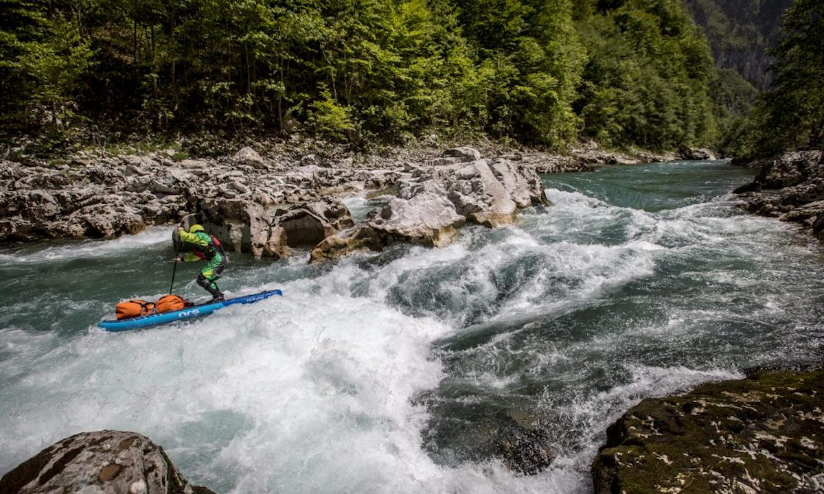 First SUP Descent Of Europe's Deepest Canyon whitewater1