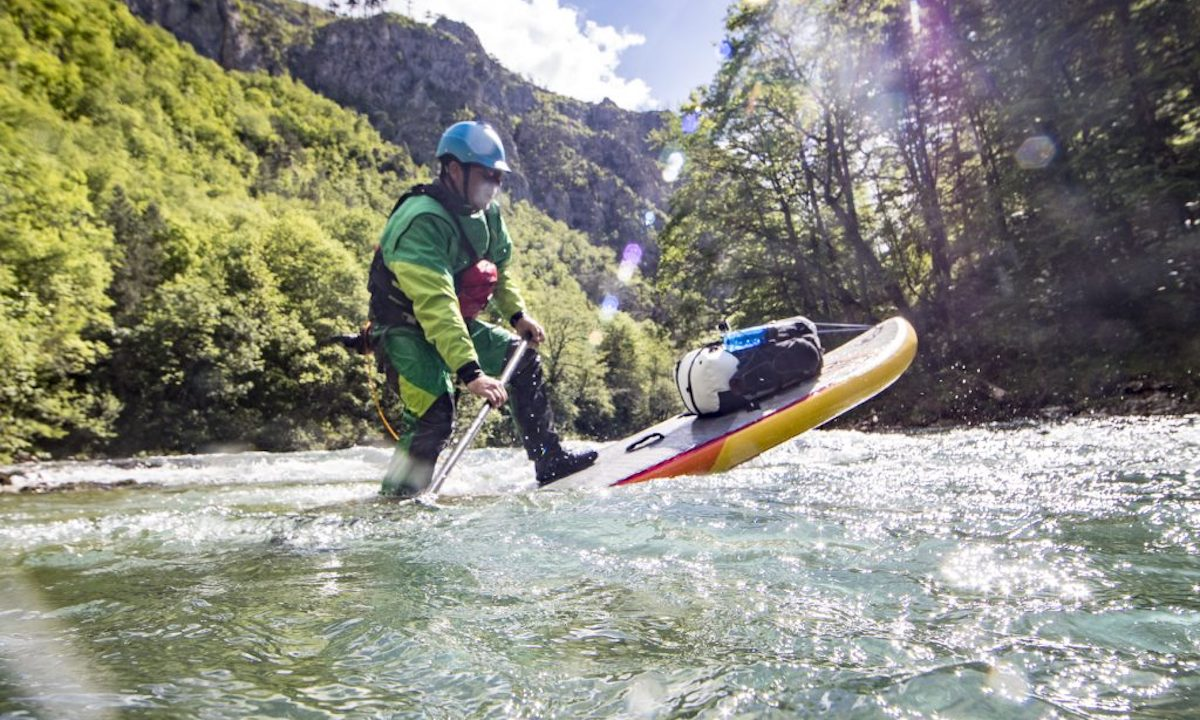First SUP Descent Of Europe's Deepest Canyon whitewater2