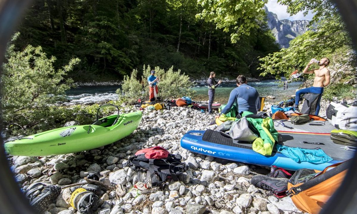 First SUP Descent Of Europe's Deepest Canyon resting