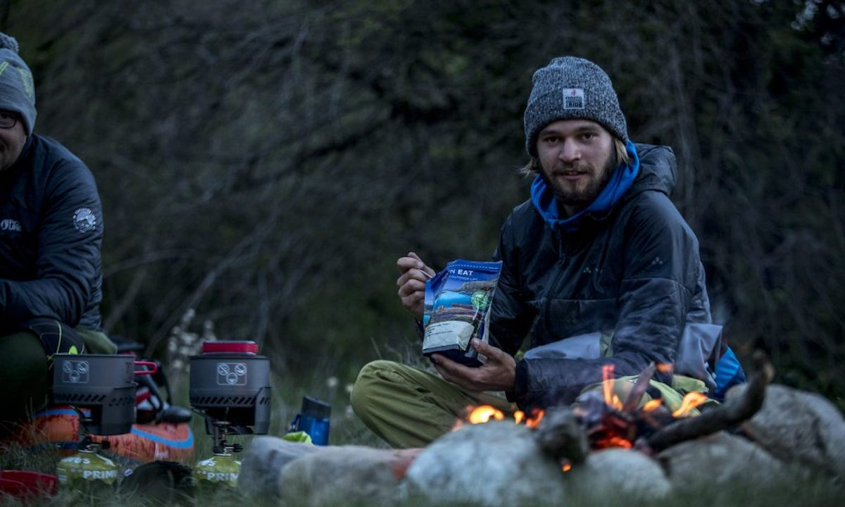 First SUP Descent Of Europe's Deepest Canyon campfire