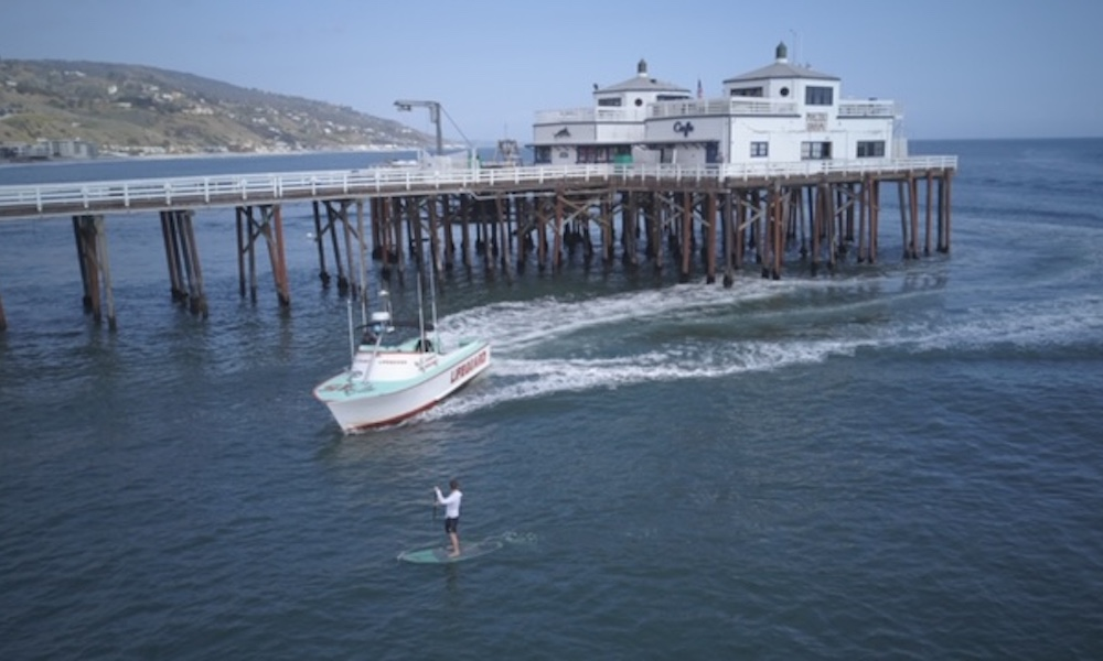 paddle board surfer arrested malibu corona virus