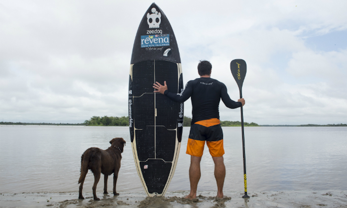 brazilian man and dog set sup world record 2