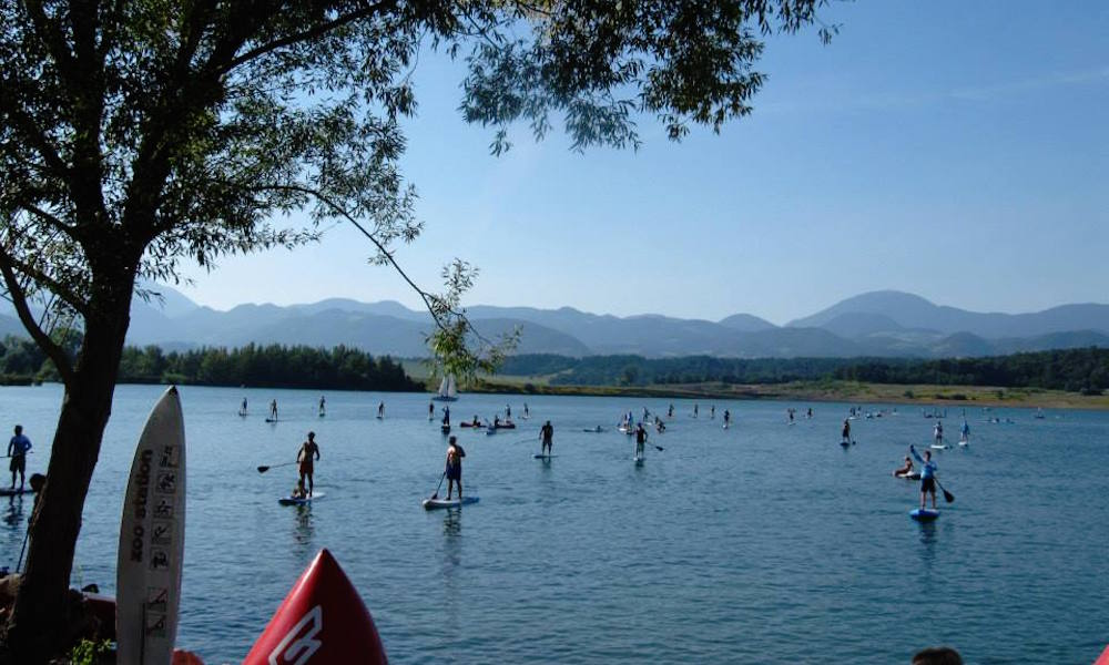 Lake Velenje SUP National Championship Photo by Vanja Matjaz